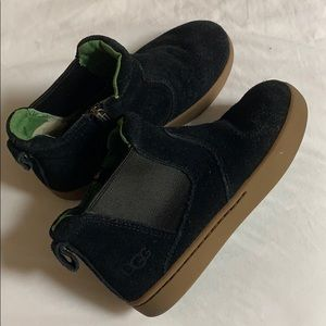 UGG Boys Suede Black Boots Size 12